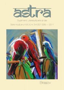 Coperta Astra. Literatură, arte şi idei, nr. 3-4 / 2011