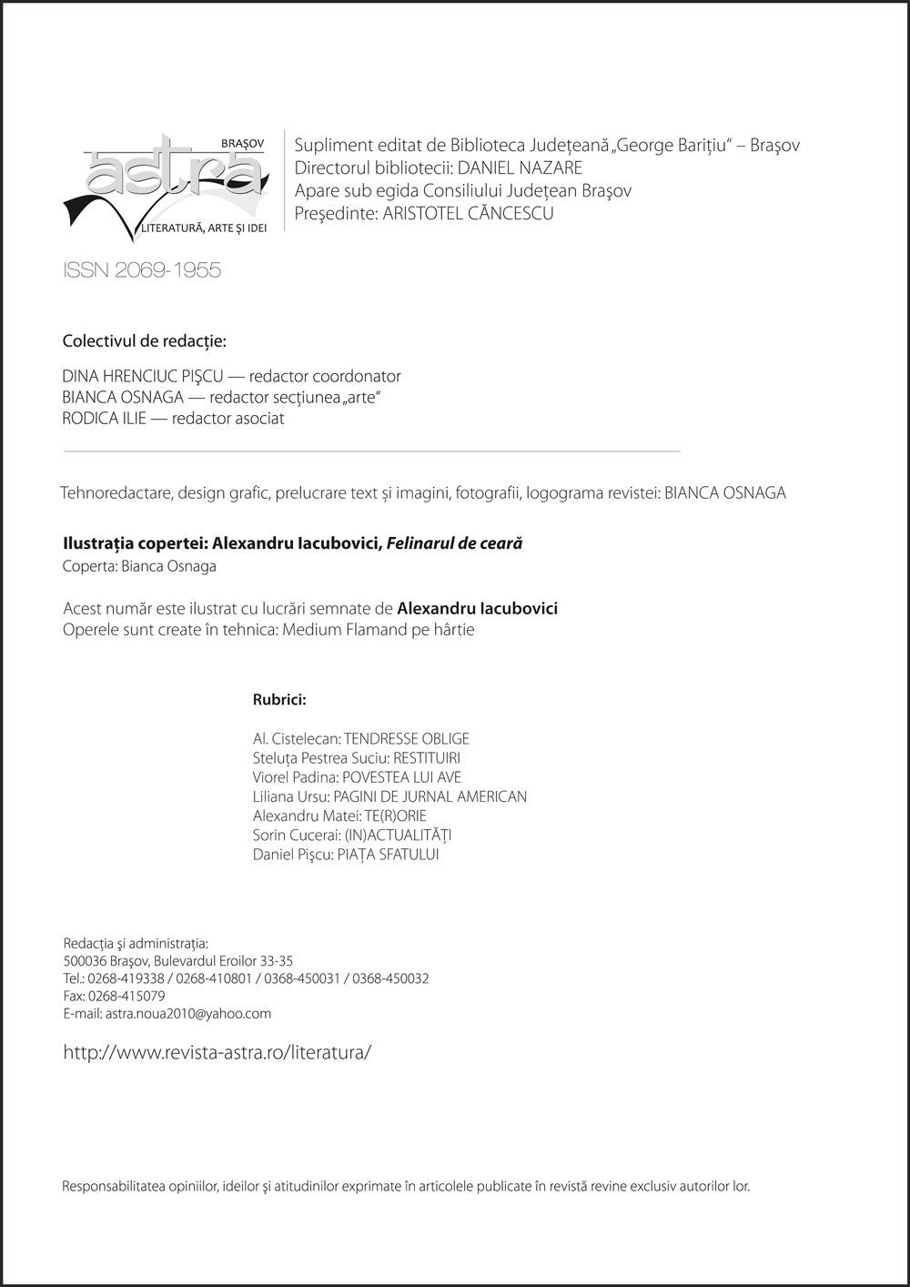 Redactia Astra 3-4/2014