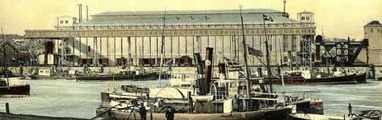 Docurile şi bazinul portului din Brăila, aprox. 1900