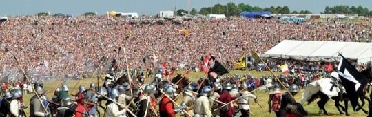 Reconstituirea istorică a bătăliei de la Grunwald (1410) desfăşurată în anul 2008