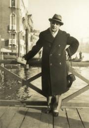 Duiliu Marcu la Veneția (aprox. 1938)