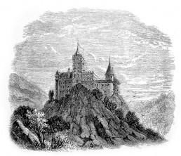 Cetatea Bran la mijlocul secolului al XIX-lea, în Emiliy Gerard, The Land Beyond the Forest, London, 1888