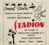 "Reclamă restaurant ""Stadion"" (""Flacăra"", 17 mai 1958)"