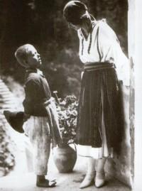 În vizită la castelul Bran, 1924