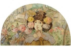 Ștefan Luchian (1858-1916), Panou decorativ [1901], ulei pe pânză, 85,5 x 135 cm, Muzeul Național de Artă al României