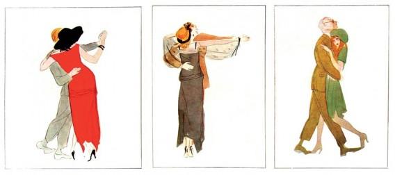"""Tango, Boston şi… Iluzie (Acuarele de Marcel Vertès, """"L'Illustration"""", nr. 4272, 17 ianuarie 1925)"""