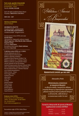 Redacție Revista Astra nr. 1-2/2012