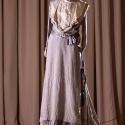 Rochie din mătase gri cu dantelă, 1900